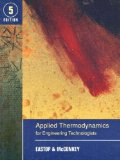 Portada de APPLIED THERMODYNAMICS FOR ENGINEERING TECHNOLOGISTS BY EASTOP. T.D. ( 1993 ) PAPERBACK