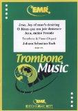 Portada de BACH - JESUS ALEGRIA DE LOS HOMBRES (CORAL DE LA CANTATA Nº 147) PARA TROMBON Y PIANO (ORGANO)