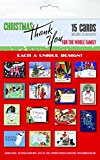 Portada de CHRISTMAS THANK YOU: FOR THE WHOLE FAMILY [WITH 15 ENVELOPES] BY LAUGHING ELEPHANT PUBLISHING (CORPORATE AUTHOR) (1-AUG-2012) CARDS