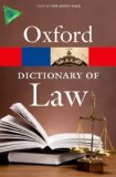 Portada de A DICTIONARY OF LAW (OXFORD PAPERBACK REFERENCE) BY MARTIN, ELIZABETH, LAW, JONATHAN (2013) PAPERBACK