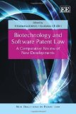 Portada de BIOTECHNOLOGY AND SOFTWARE PATENT LAW: A COMPARATIVE REVIEW OF NEW DEVELOPMENTS (NEW DIRECTIONS IN PATENT LAW SERIES) BY EMANUELA AREZZO, GUSTAVO GHIDINI (2012) HARDCOVER
