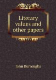Portada de LITERARY VALUES AND OTHER PAPERS