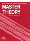Portada de L179 - MASTER THEORY BOOK 4 ELEMENTARY HARMONY BY CHARLES S. PETERS PUBLISHED BY KJOS MUSIC COMPANY (1966) PAPERBACK
