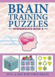 Portada de (BRAIN TRAINING PUZZLES INTERMEDIATE BOOK 2) BY CARLTON BOOKS (AUTHOR) PAPERBACK ON (09 , 2009)