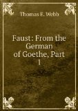 Portada de FAUST: FROM THE GERMAN OF GOETHE, PART 1