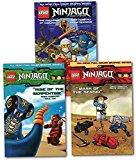 Portada de LEGO NINJAGO MASTERS OF SPINJITZU COLLECTION 3 BOOKS SET (VOL.1-3) (THE CHALLENGE OF SAMUKAI (LEGO NINJAGO VOL.1), MASK OF THE SENSEI (LEGO NINJAGO VOL.2), RISE OF THE SERPENTINE (LEGO NINJAGO VOL.3) BY GREG FARSHTEY (2015-01-01)