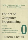 Portada de (THE ART OF COMPUTER PROGRAMMING, FASCICLE 0: INTRODUCTION TO COMBINATORIAL ALGORITHMS AND BOOLEAN FUNCTIONS) BY KNUTH, DONALD E. (AUTHOR) PAPERBACK ON (05 , 2008)
