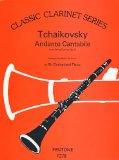 Portada de TCHAIKOVSKY - ANDANTE CANTABILE OP.11 PARA CLARINETE Y PIANO (DE SMET)