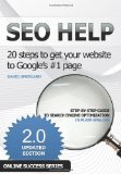 Portada de SEO HELP: 20 STEPS TO GET YOUR WEBSITE TO GOOGLE'S #1 PAGE 2ND EDITION BY DAVID AMERLAND (2011) PAPERBACK