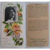 Portada de ANTIGUA TARJETA PUBLICIDAD - OLD CARD ADVERTISING : ROSA TÉ. CHOCOLATES J.MARCO SORIANO. VILLENA