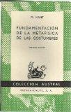 Portada de FUNDAMENTACIÓN DE LA METAFÍSICA DE LAS COSTUMBRES
